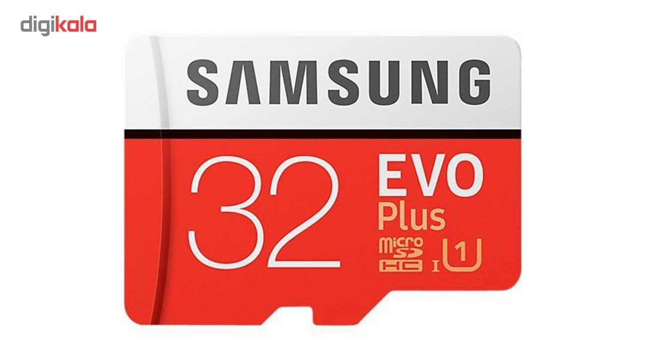 کارت حافظه microSDHC سامسونگ مدل Evo Plus کلاس 10 استاندارد UHS-I U1 سرعت 95MBps همراه با آداپتور SD ظرفیت 32 گیگابایت main 1 2