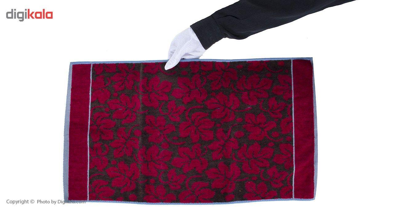 حوله دستی ناوالس مدل گل - سایز 40 × 73 سانتی متر main 1 6