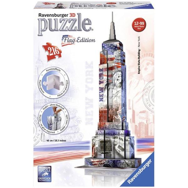 پازل سه بعدی 216 تکه راونزبرگر مدل Empire State Building Flag Edition