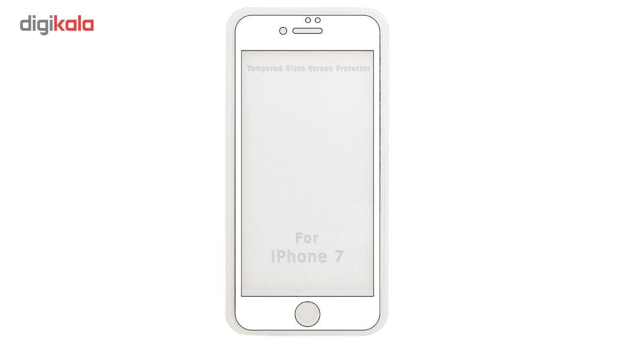 محافظ صفحه نمایش موکول مدل Full Cover Tempered Glass مناسب برای گوشی موبایل آیفون 7/8 main 1 2