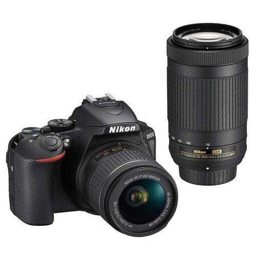 دوربین دیجیتال نیکون مدل D5600 به همراه لنز 18-55 و 70-300 میلی متر f/4.5-6.3G  AF-P