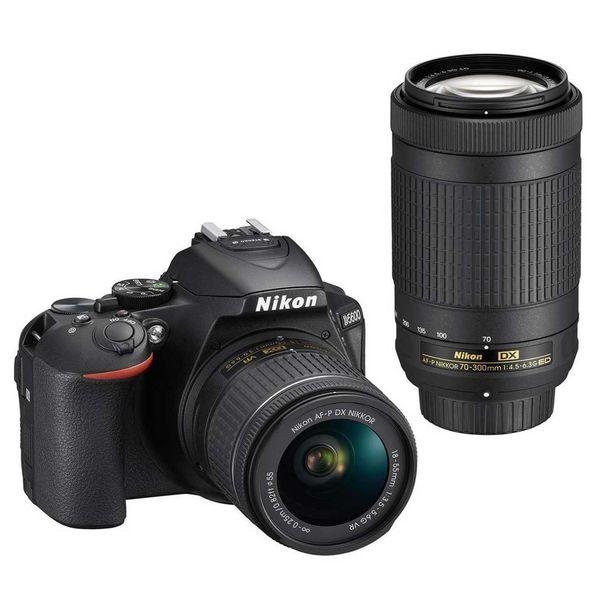 دوربین دیجیتال نیکون مدل D5600 به همراه لنز 18-55 و 70-300 میلی متر f/4.5-6.3G  AF-P | Nikon D5600 kit 18-55 mm And 70-300 mm f/4.5-6.3G  AF-P Digital Camera
