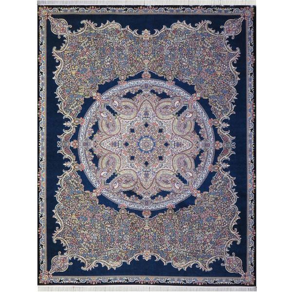 فرش ماشینی پارسه کد FSM124 زمینه سورمه ای