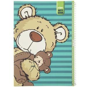دفتر نقاشی کلیپس طرح تدی خرسه