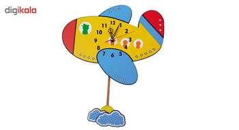 ساعت دیواری کودک جیک جیک مدل هواپیما