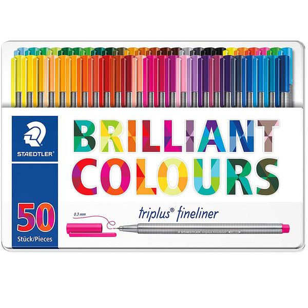 روان نویس 50 رنگ استدلر مدل Triplus Brilliant Colours
