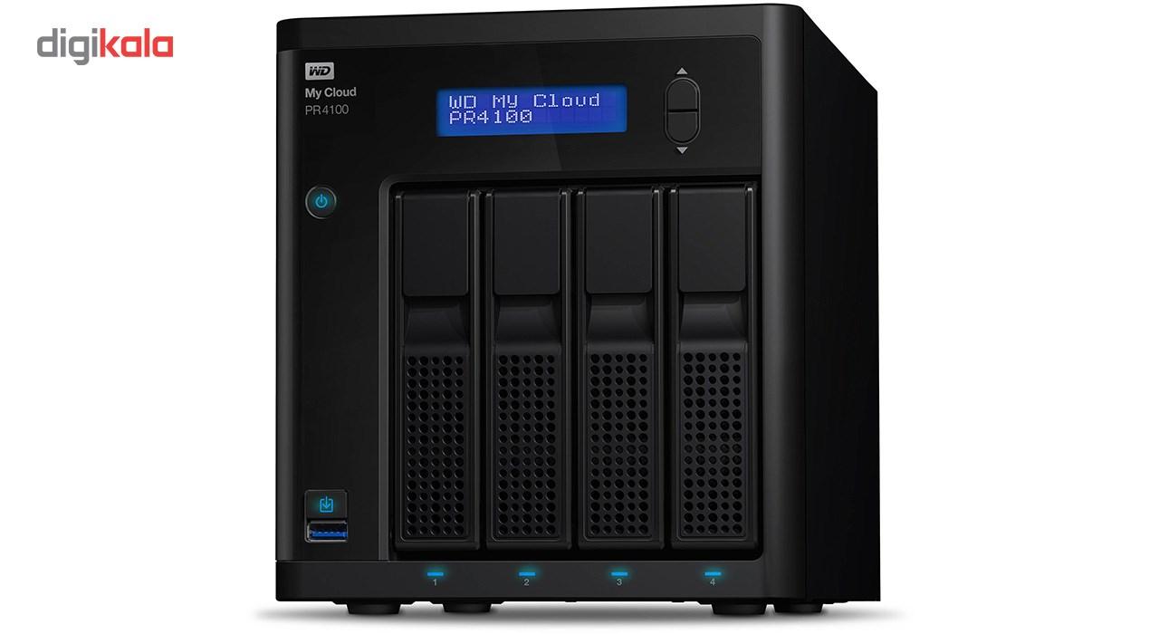 ذخیره ساز تحت شبکه وسترن دیجیتال مدل WD My Cloud PR4100 WDBNFA0160KBK 4-Bay ظرفیت 16 ترابایت