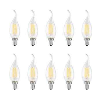 لامپ ال ای دی فیلامنت 4 وات دلتا مدل اشکی پایه E14  بسته 10 عددی