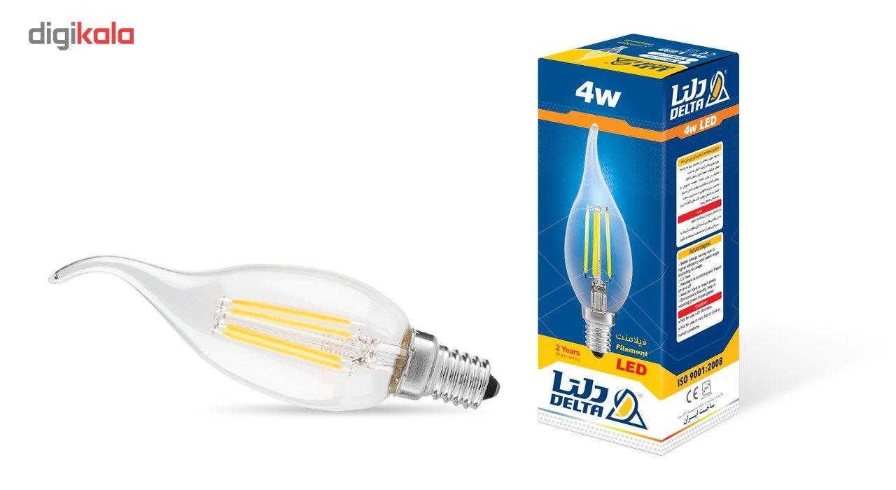لامپ ال ای دی فیلامنت 4 وات دلتا مدل اشکی پایه E14  بسته 10 عددی main 1 1