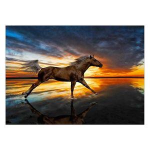 تابلوی شاسی ونسونی طرح Horse Runnin سایز 30 × 40