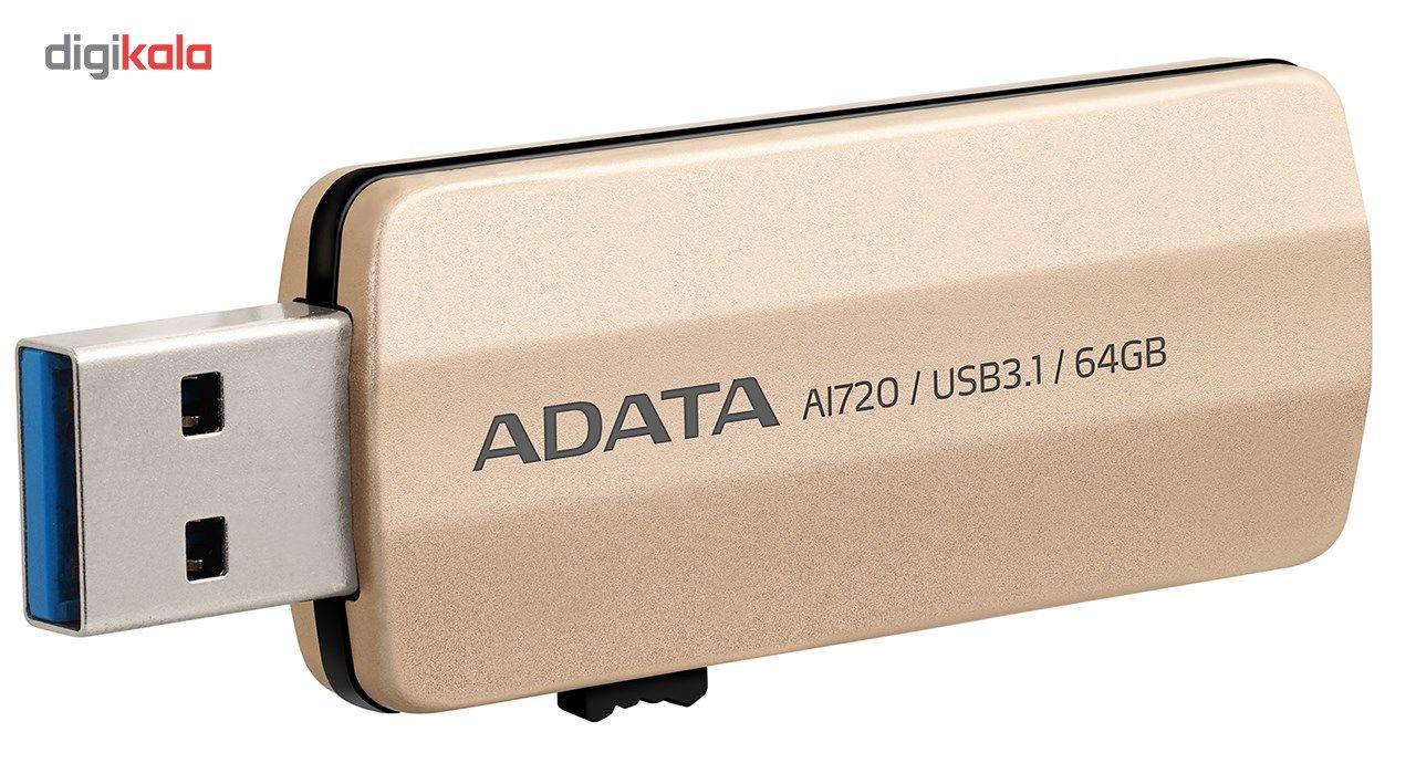 فلش مموری ای دیتا مدل i-Memory AI720 ظرفیت 64 گیگابایت