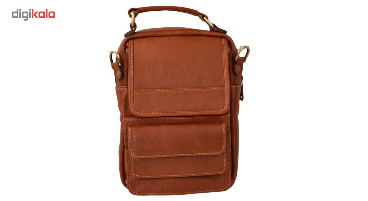کیف دوشی چرم طبیعی کهن چرم مدل db66