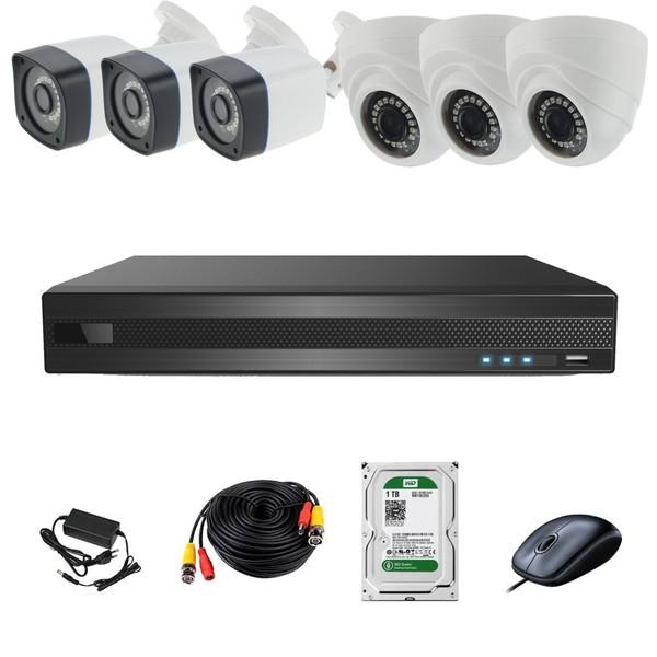سیستم امنیتی ای اچ دی فوتون کاربری مسکونی فروشگاهی 6 دوربین