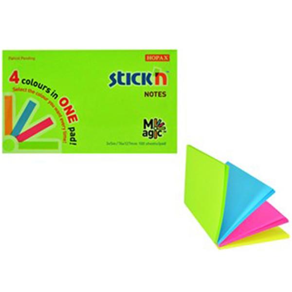 کاغذ یادداشت 4 رنگی هوپکس بزرگ مدل نئون