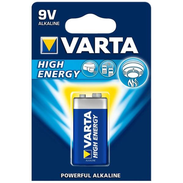 باتری نه ولتی وارتا مدل High Energy Alkaline 9V HE