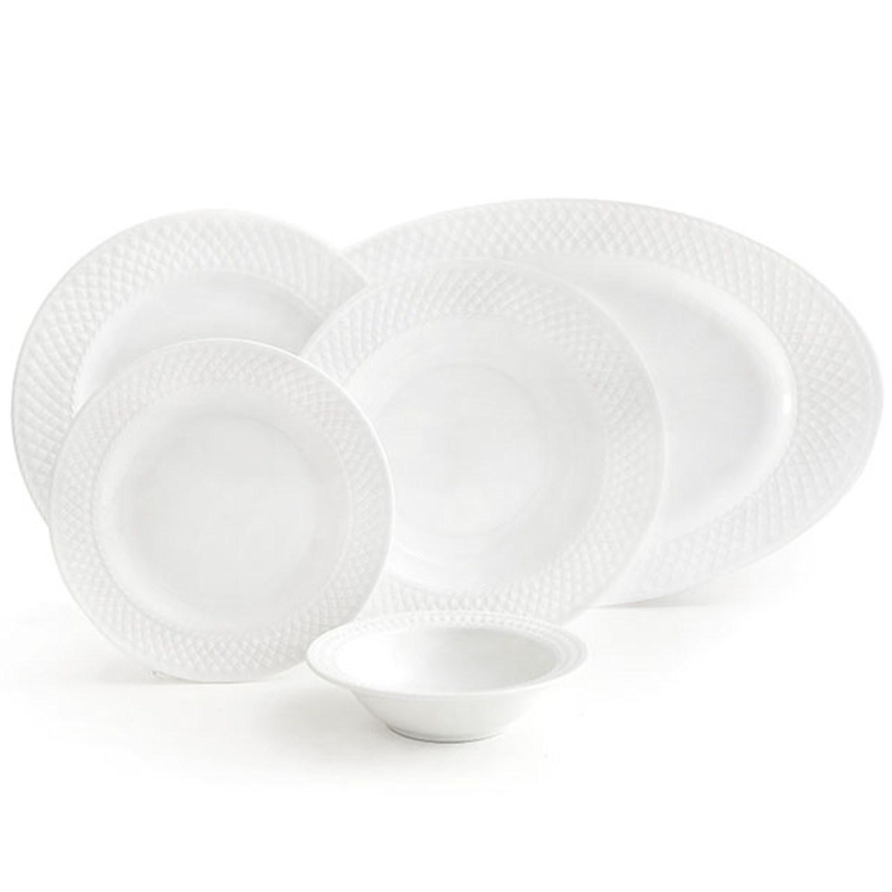 عکس سرویس غذاخوری 28 پارچه چینی زرین ایران سری رادیانس مدل White 2 درجه عالی