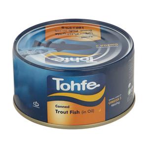 کنسرو ماهی قزل آلا در روغن تحفه - 180 گرم