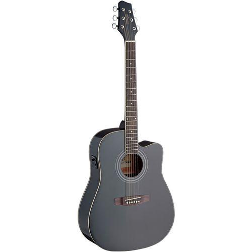 گیتار آکوستیک استگ مدل SA40DCFI-BK