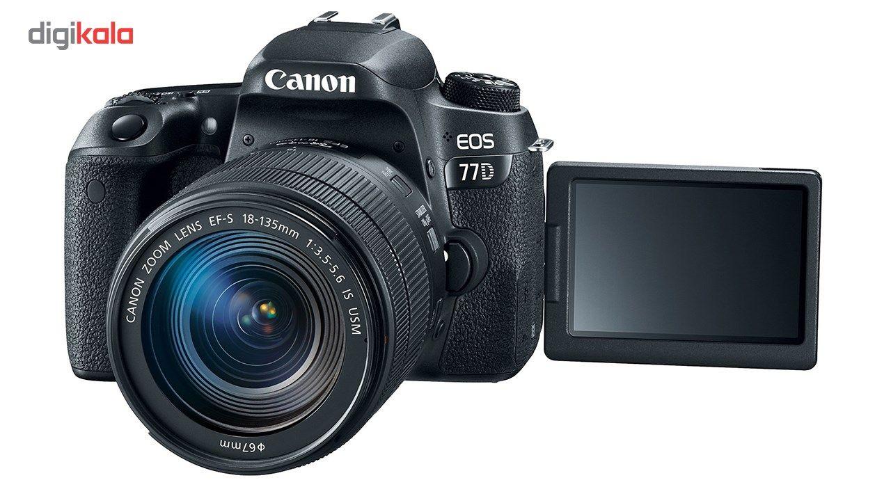 دوربین دیجیتال کانن مدل EOS 77D به همراه لنز 18-135 میلی متر IS USM main 1 5