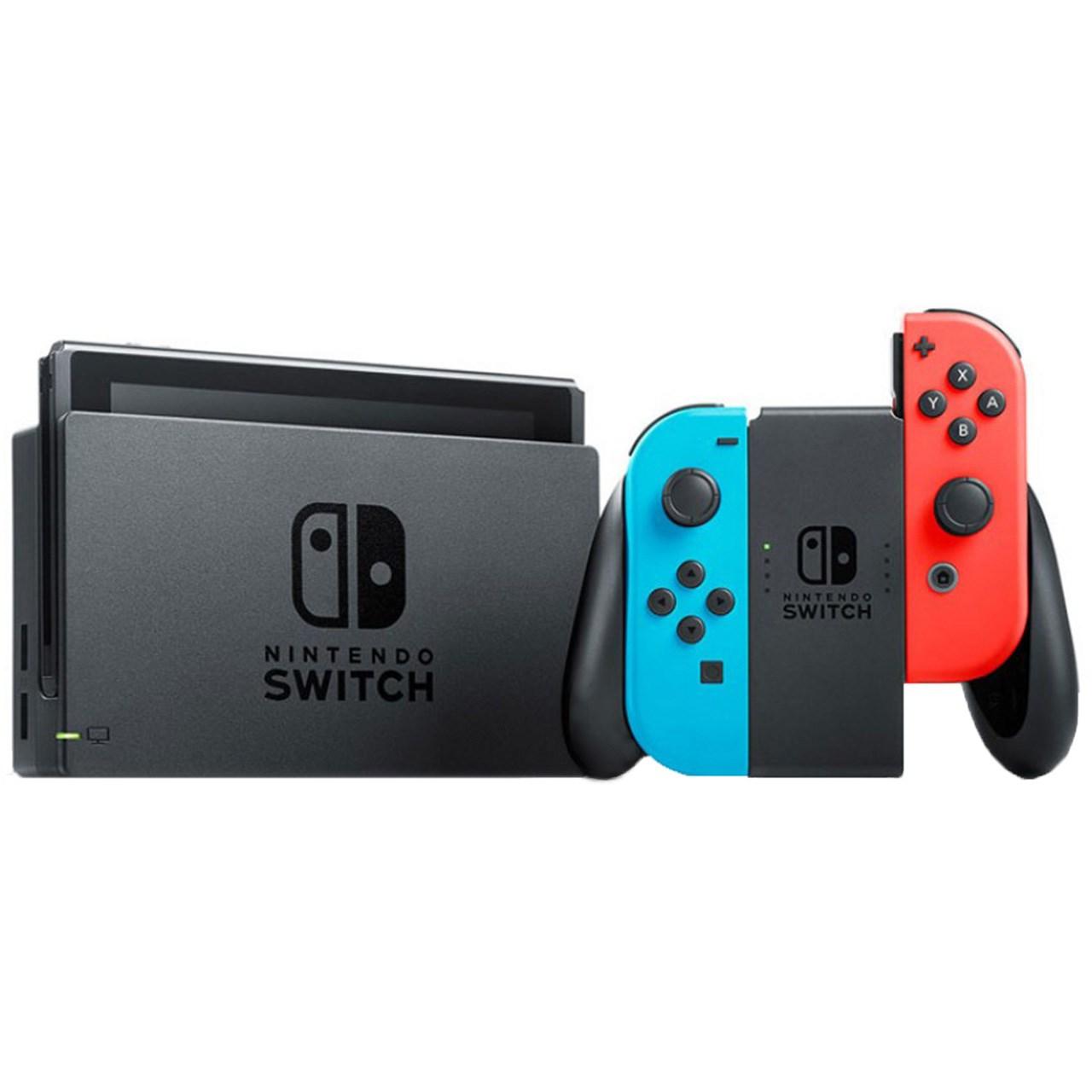 کنسول بازی نینتندو مدل Switch Neon Blue and Neon Red Joy-Con