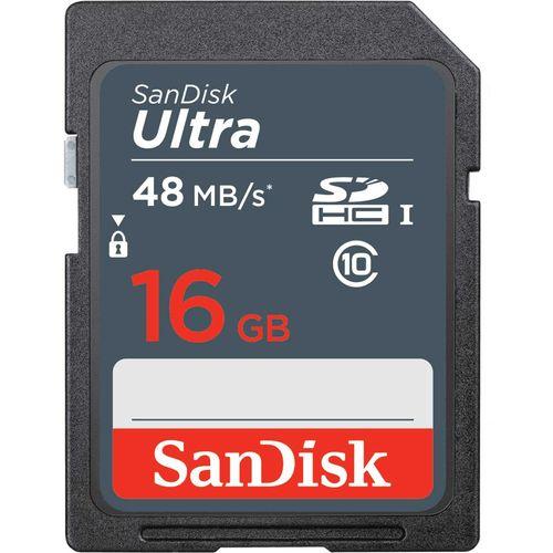 کارت حافظه SDHC سن دیسک مدل Ultra کلاس 10 استاندارد UHS-I سرعت 48MBps ظرفیت 16 گیگابایت
