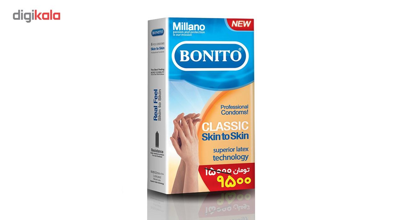کاندوم بونیتو مدل Classic Skin To Skin بسته 6 عددی