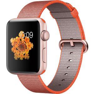 ساعت هوشمند اپل واچ 2  مدل 42mm Rose Gold Aluminum Case With Orange Nylon Band