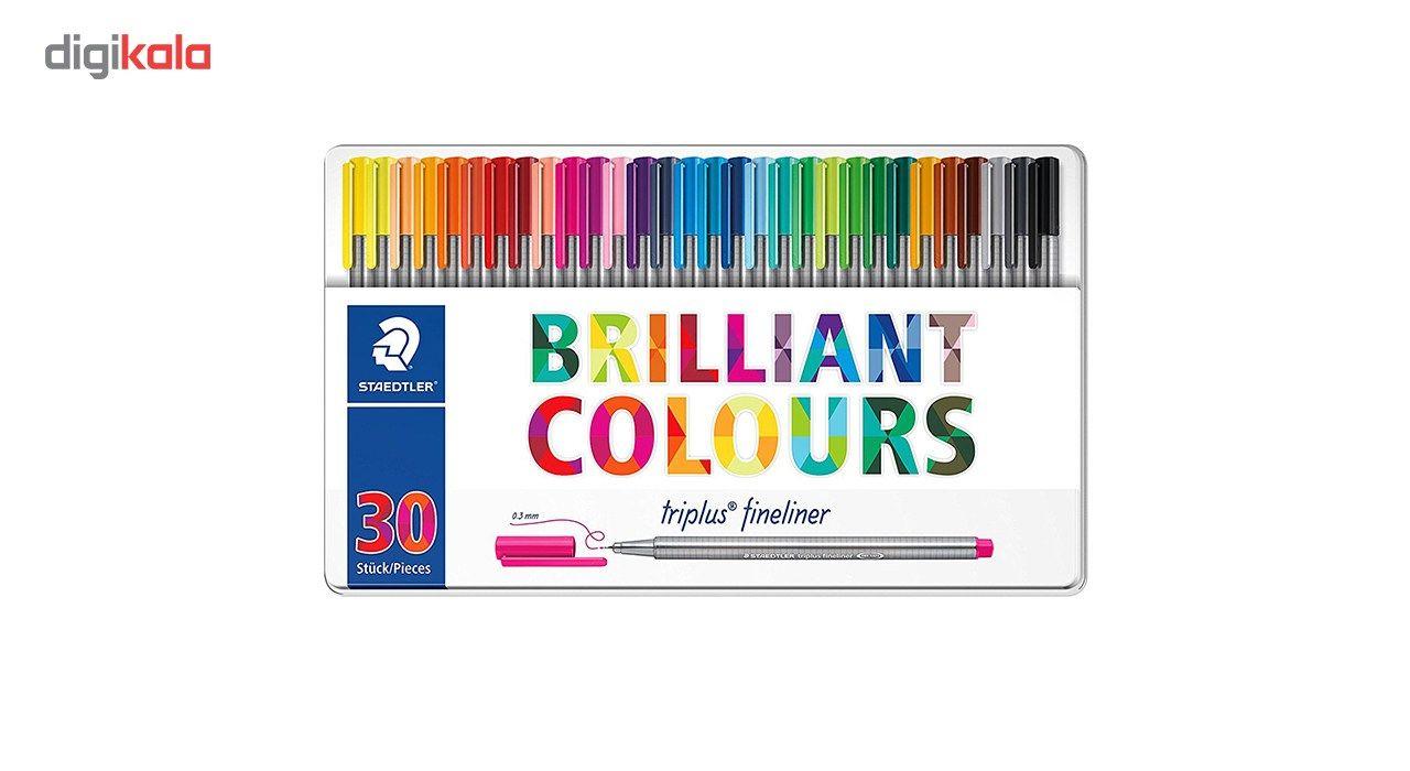 روان نویس 30 رنگ استدلر مدل Triplus Brilliant Colours کد 334 M30 main 1 1