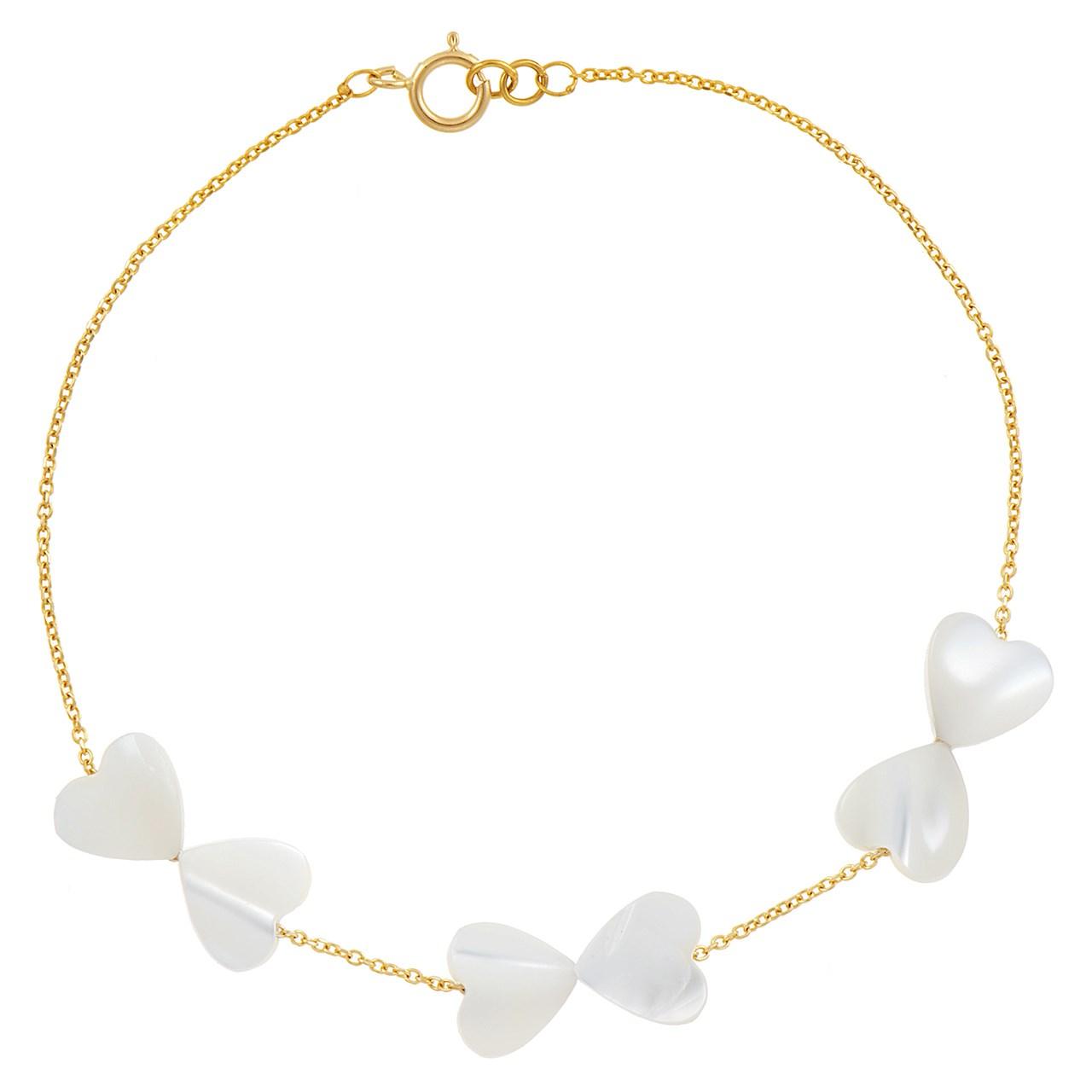 قیمت دستبند طلا 18 عیار ماهک مدل MB0177 - مایا ماهک