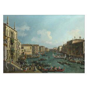 تابلو شاسی ونسونی طرح Giovanni Canaletto سایز 70 × 50