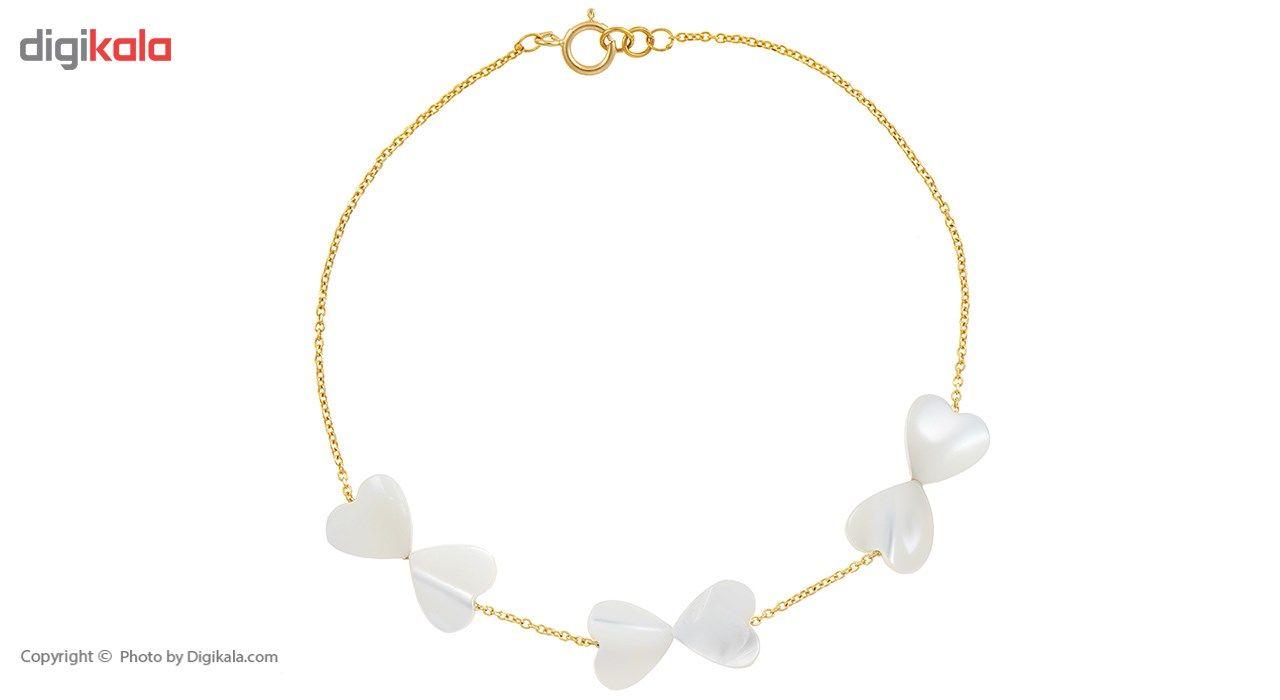 دستبند طلا 18 عیار ماهک مدل MB0177 - مایا ماهک -  - 2
