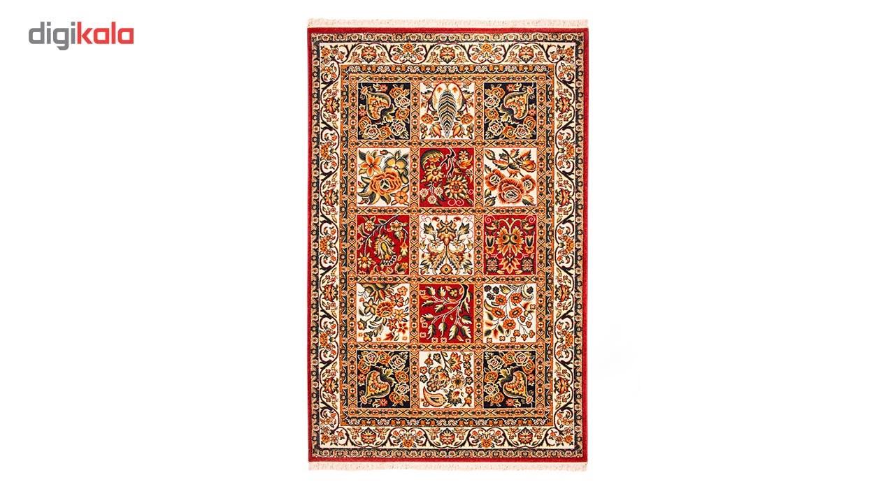 فرش ماشینی ساوین طرح بختیاری کد FSM16 زمینه قرمز