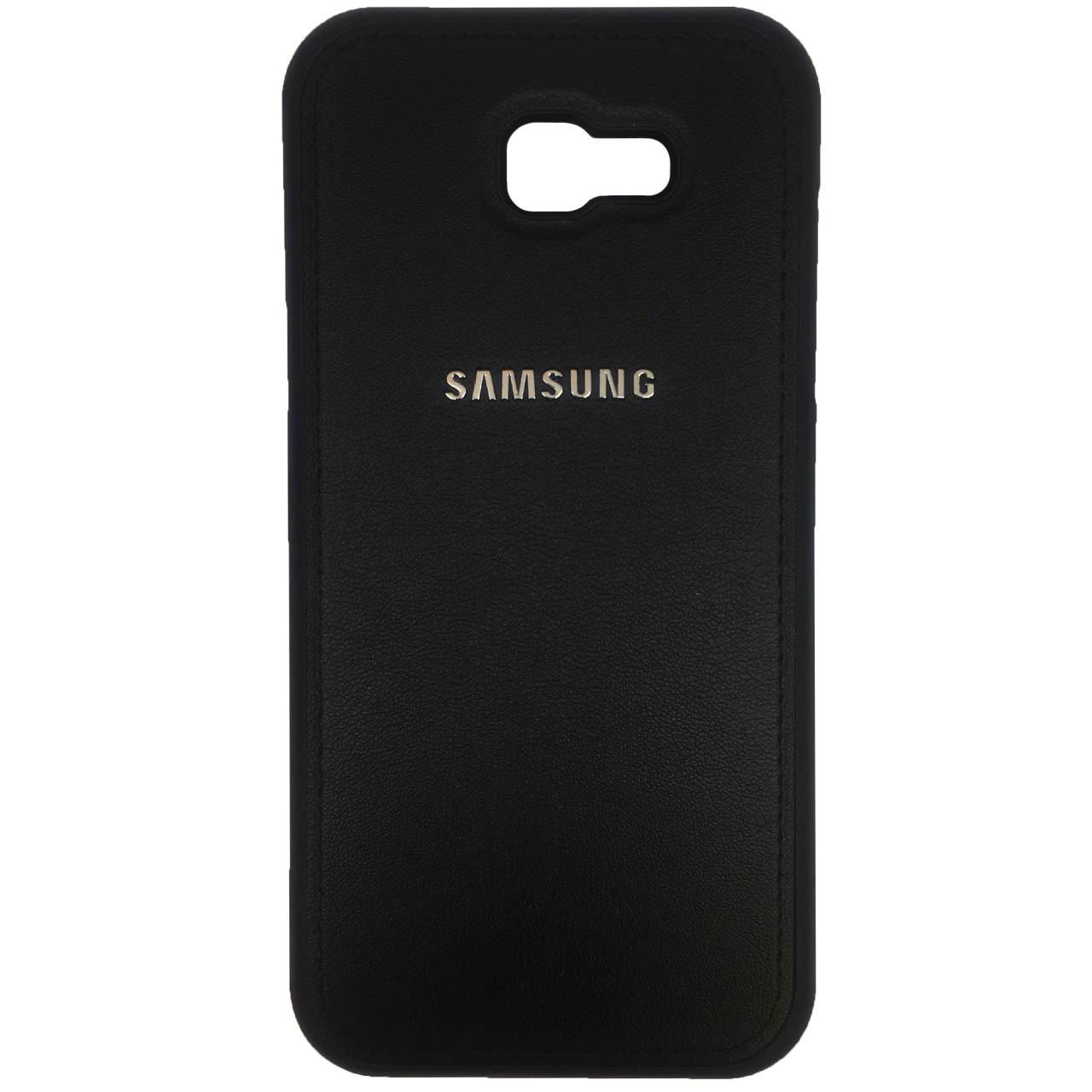 کاور ژله ای طرح چرم مدل مناسب برای گوشی موبایل سامسونگ Galaxy A7 2017/A720              ( قیمت و خرید)