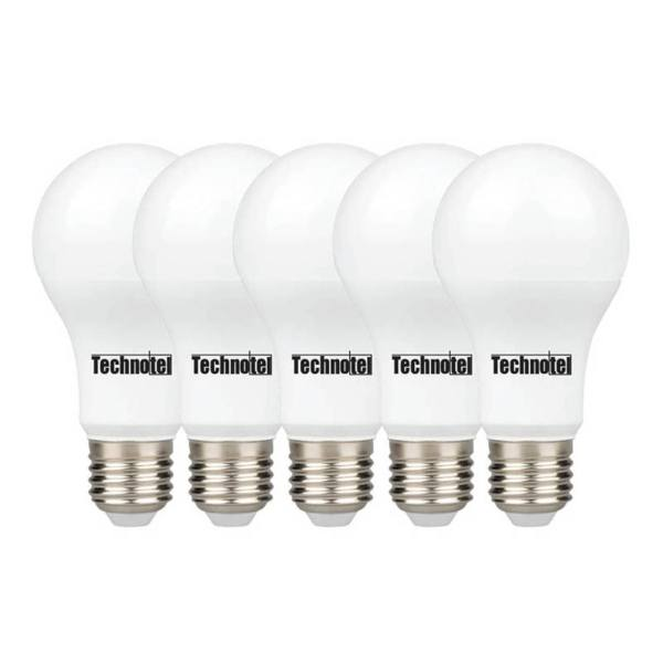 لامپ ال ای دی 12 وات تکنوتل مدل 312  پایه E27 بسته 5 عددی
