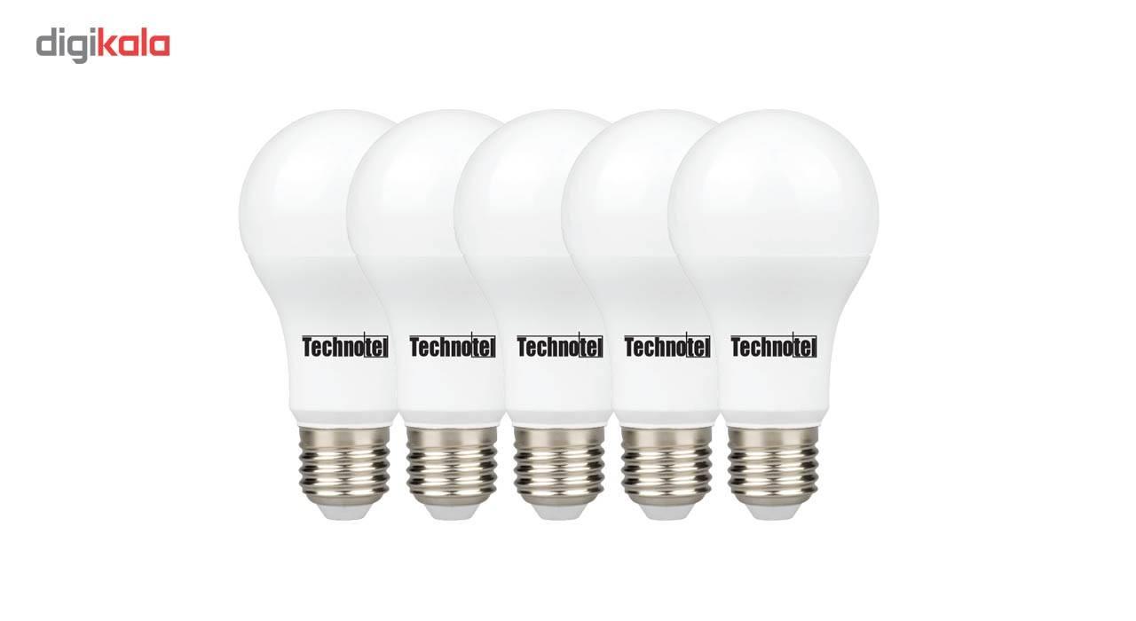 لامپ ال ای دی 12 وات تکنوتل مدل 312  پایه E27 بسته 5 عددی main 1 1
