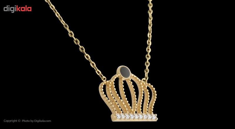 گردنبند طلا 18 عیار ماهک مدل MM0498