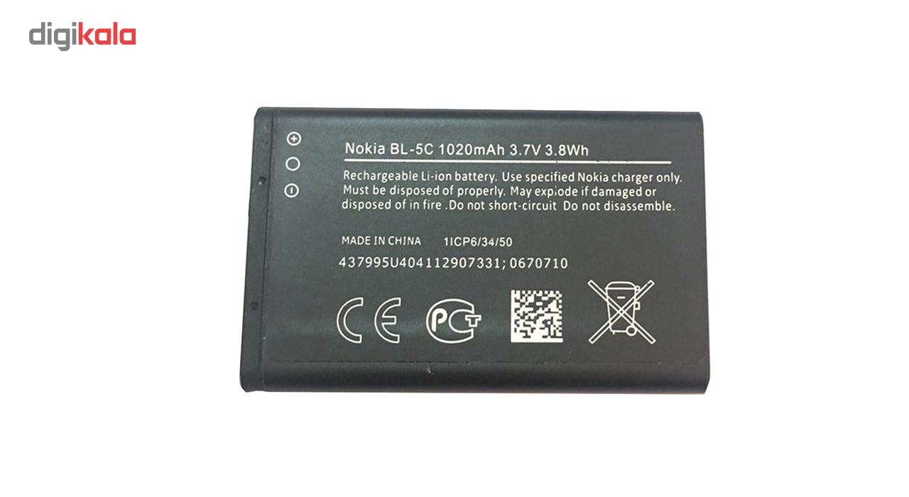 باتری موبایل مدل BL-5C  با ظرفیت 1020mAh مناسب برای گوشی موبایل نوکیا 5C