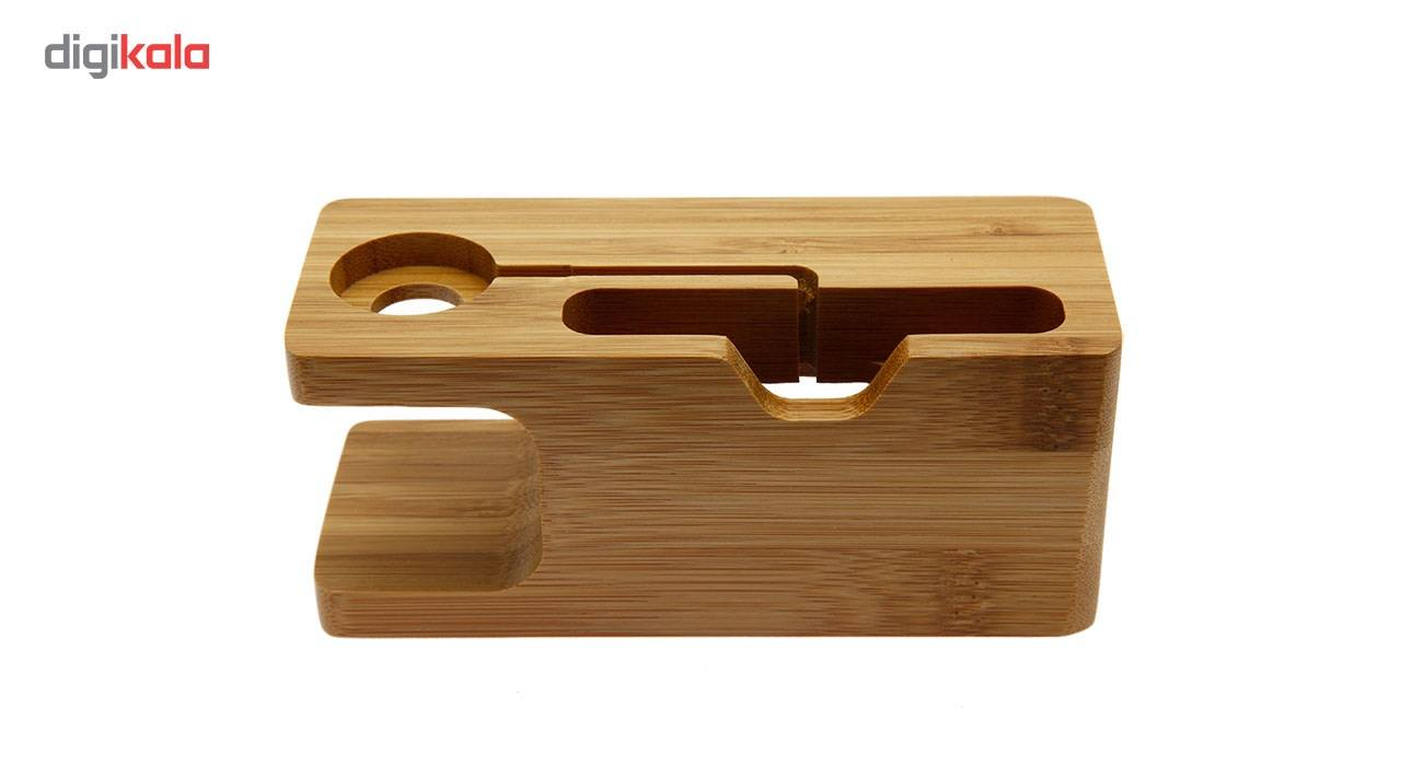 پایه نگهدارنده گوشی و اپل واچ مدل Wood main 1 2