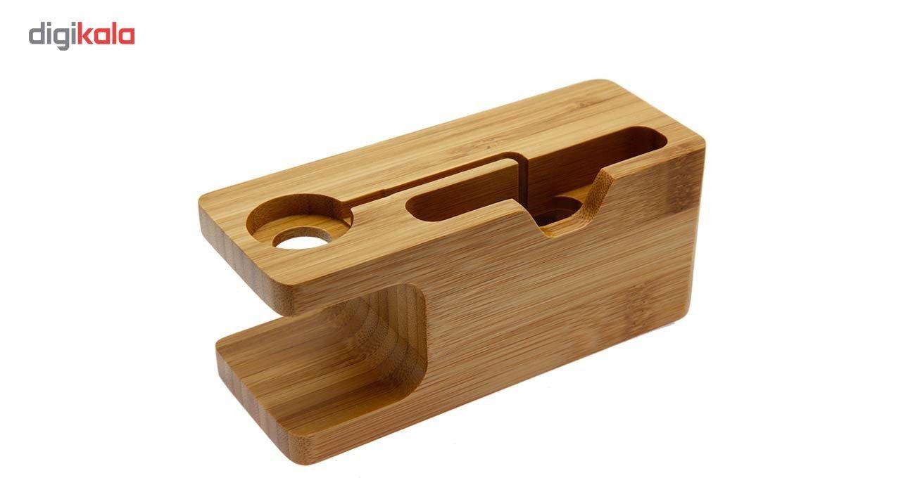 پایه نگهدارنده گوشی و اپل واچ مدل Wood main 1 3