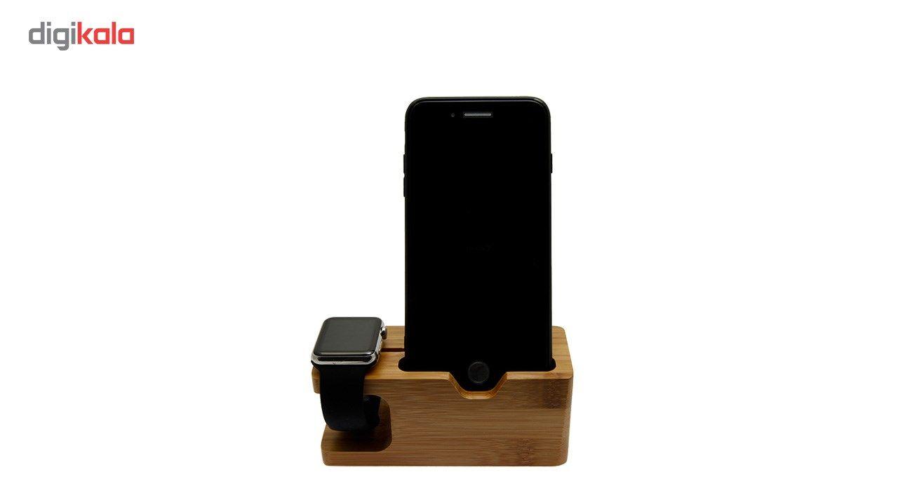 پایه نگهدارنده گوشی و اپل واچ مدل Wood main 1 5