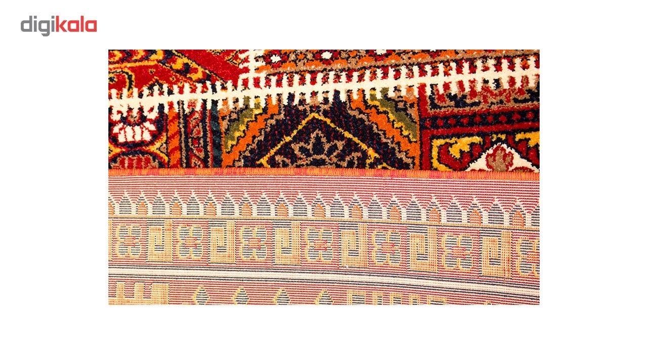 فرش ماشینی ساوین طرح چهل تیکه کد FSM53 زمینه قرمز main 1 4