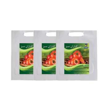 مجموعه بذر گوجه فرنگی گلباران سبز بسته 3 عددی
