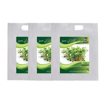 مجموعه بذر خرفه گلباران سبز بسته 3 عددی