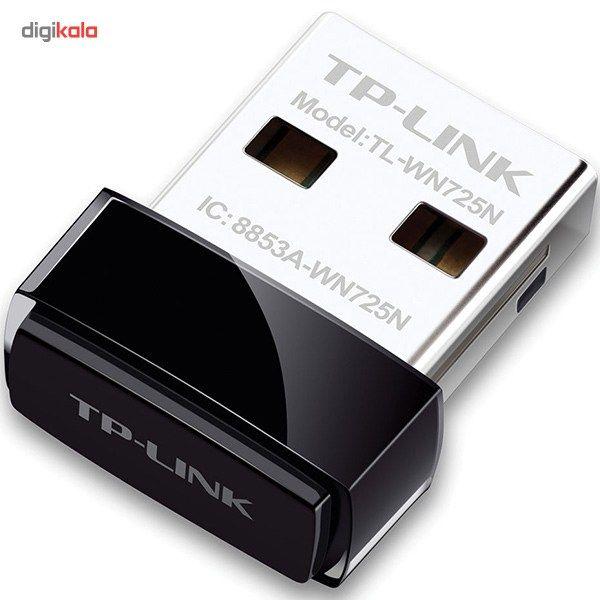 کارت شبکه USB بی سیم N150 Nano تی پی-لینک مدل TL-WN725N main 1 2