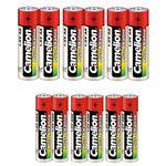 باتری قلمی و نیم قلمی کملیون مدل Plus Alkaline بسته 12 عددی thumb