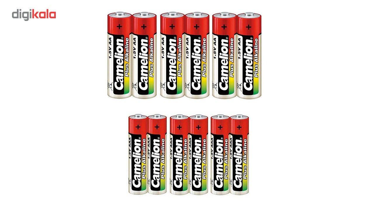 باتری قلمی و نیم قلمی کملیون مدل Plus Alkaline بسته 12 عددی main 1 1