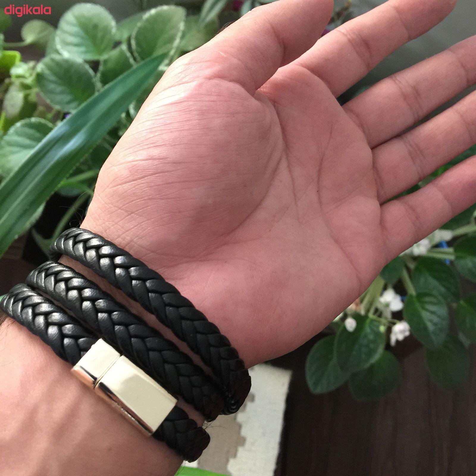 دستبند مردانه مدل He314 main 1 2