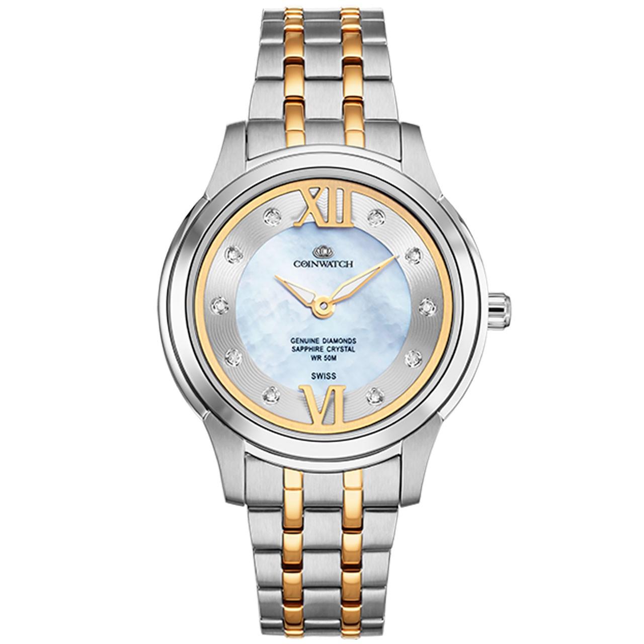 ساعت مچی عقربه ای زنانه کوین واچ مدل C141TWH 40
