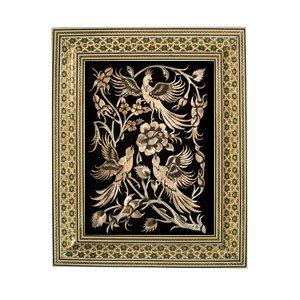 تابلو قلمزنی طرح گل و مرغ کد 1824-2