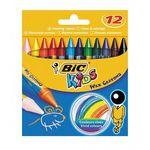 مداد شمعی بیک مدل کیدز - بسته 12 رنگ thumb